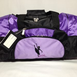 AMD Dance Bag – Purple and Black ~ Ballet Logo