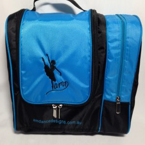 AMD Cosmetic and Hair Accessories Bag ~ Aqua And Black