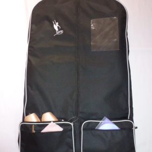 AMD Costume Bag ~ Black with White Trim