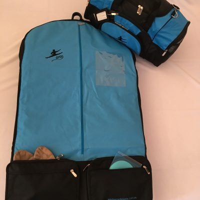 AMD Male 2 Piece Basic Package ~ Aqua and Black ~ Male Logo