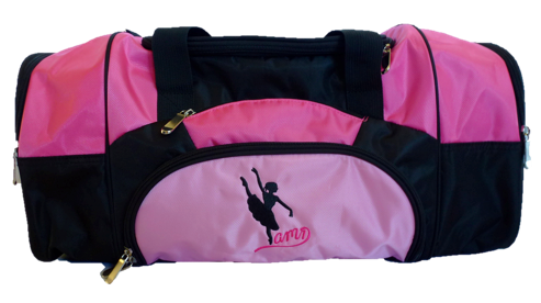 AMD Dance Bag – Pink and Black ~ Ballet Logo