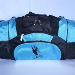 AMD Dance Bag – Aqua and Black ~ Ballet Logo
