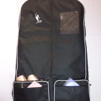 AMD Costume Bag ~ Black with White Trim